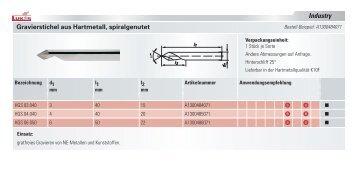 Gravierstichel aus Hartmetall - LUKAS-ERZETT