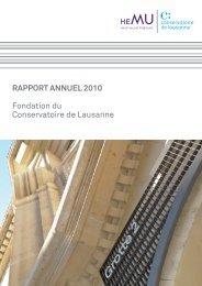 Rapport annuel 2010 - HEMU