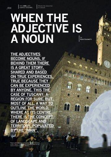 WHEN THE ADJECTIVE IS A NOUN - TXTmagazine