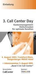 3. Call Center Day Kostenmanagement - CallCenter PROFI