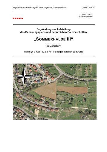 sommerhalde iii - Stadt Donzdorf