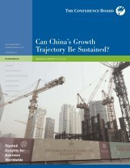 Can China's Growth Trajectory Be Sustained? - The Conference Board