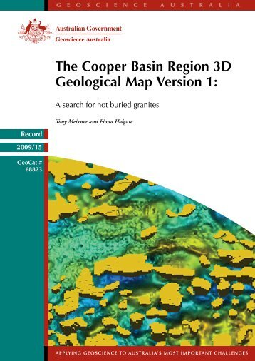 The Cooper Basin Region 3D Map Version 1 - Geoscience Australia