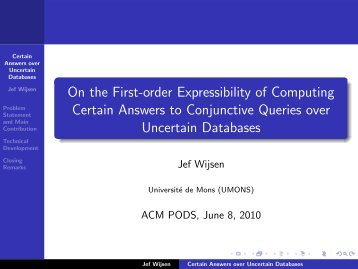 On the First-order Expressibility of Computing Certain Answers to ...