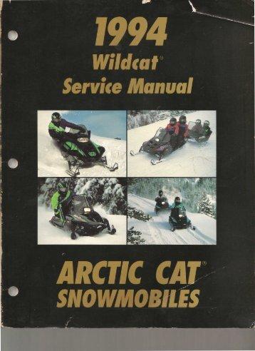 1994 Wildcat Service Manual - Fairbanks Snow Travelers