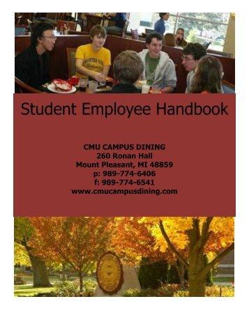 Student Employee Handbook - CampusDish