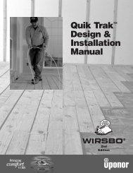 Quik Trak™ Design & Installation Manual - Heating Help