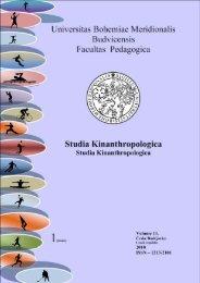 Studia Kinanthropologica - Pedagogická fakulta - Jihočeská univerzita