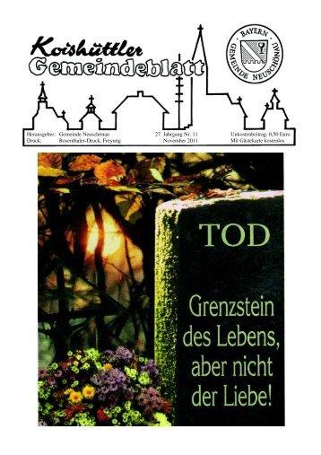 REDAKTIONSSCHLUSS für Dezember-Ausgabe ... - Neuschönau