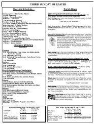 04/14/13 Bulletin - St Gregory Parish