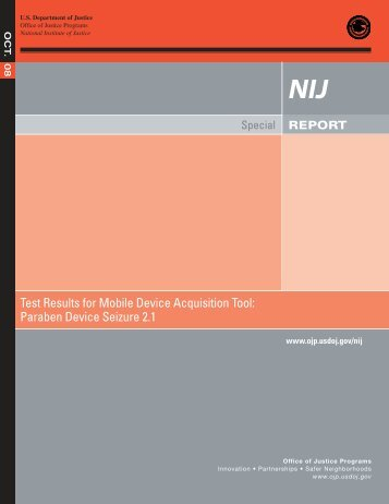 Test Results for Mobile Device Acquisition Tool - National Criminal ...