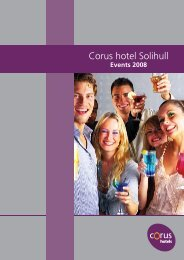 events 2008 - Corus Hotels