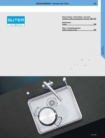 XX 105 Küchenzubehör / Accessori per cucina ... - Suter Inox AG