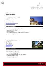 Golf Alpin Card Package Kitzbühel
