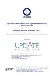 Suplementos antioxidantes para la prevención de cánceres ... - Rima