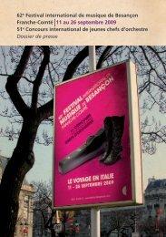 62e Festival international de musique de Besançon ... - Radio France