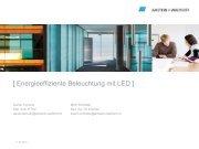 [ Energieeffiziente Beleuchtung mit LED ] - Energie Zentralschweiz