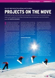 PROJECTS ON THE MOVE - Linux Magazine