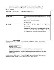 Schulcurriculum Englisch EPH - Gymnasium Herkenrath