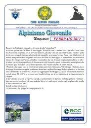 Febbraio 2012.indd - CAI - sezione di Sesto San Giovanni