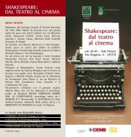 Shakespeare: dal teatro al cinema