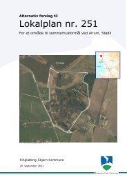Alternativ forslag til Lokalplan 251.pdf - Ringkøbing-Skjern Kommune