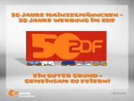   08.03.2013 - ZDF Werbefernsehen