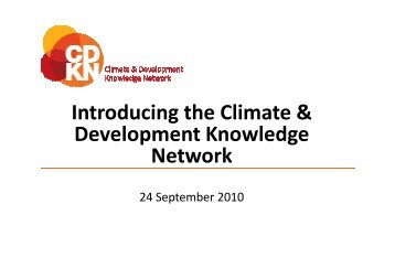 Climate and Development - CDKN Global