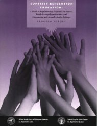 Conflict Resolution Education - National Criminal Justice Reference ...