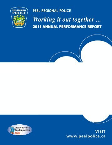 2011 - Annual Performance Report - Peel Regional Police