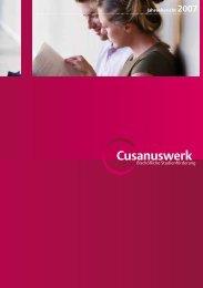 Jahresbericht 2007 - Cusanuswerk