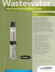 High Head Filtered Effluent Pumps - Franklin Electric