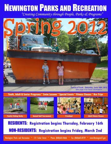 Registration Begins Thursday, February 16th - Town of Newington