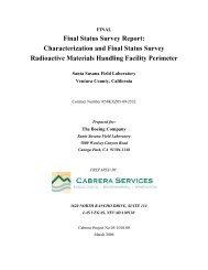 Final Status Survey Report - ETEC - U.S. Department of Energy