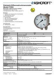 Datenblatt F5503 - Ashcroft Instruments GmbH