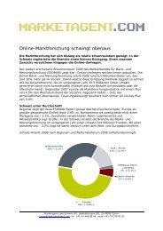 Online Marktforschung schwingt obenaus - der ... - Marketagent.com