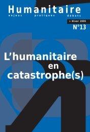 Revue Humanitaire n°13 - décembre 2005 - Médecins du Monde