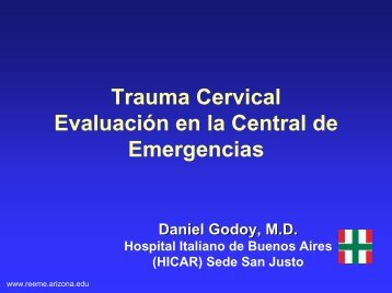Trauma cervical - Reeme.arizona.edu