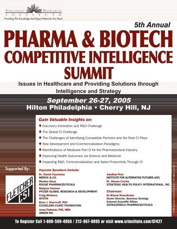 COMPETITIVE INTELLIGENCE SUMMIT - ALM Events