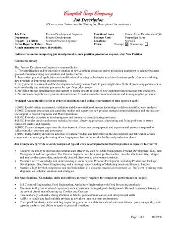 job description department of food science compliance 3 - Food Preparer Job Description