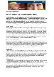 Fernsehoffensive des Burgenland Tourismus: Sechs führende ...