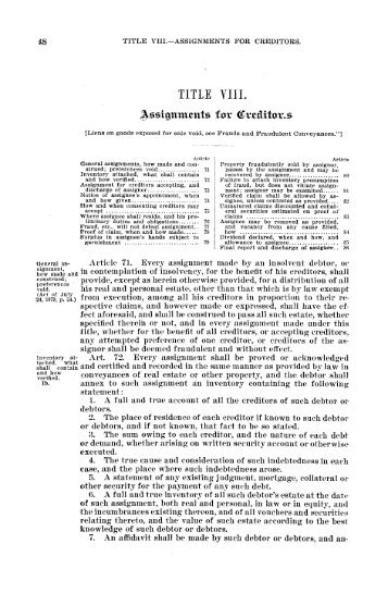 REVISED CIVIL STATUTES - Texas State Law Library