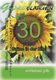 Grünes Blättchen Nr. 71 - Bündnis 90/Die Grünen Roetgen