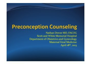 Pre-Conception Counseling - Healthcare Professionals