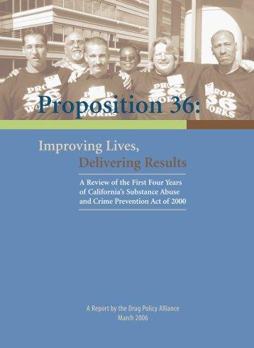 Improving Lives, Delivering Results - Drug Policy Alliance