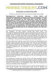 Marketagent.com Handy-Studie 2008 - Unternehmerweb