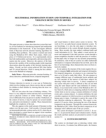 MULTIMODAL INFORMATION FUSION AND TEMPORAL ... - Quaero