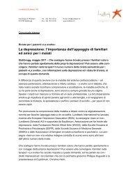 Comunicato stampa Â«La Svolta 10 - Depression.ch
