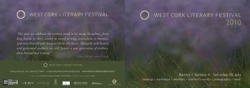 West Cork Literary Festival Programme