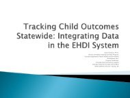 Integrating Data in the EHDI System [PDF] - National Center for ...